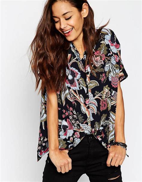 Kimono Blouse Hoodie Salem asos asos sleeve kimono blouse in black floral print