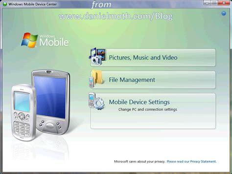 mobile device center the moth vista windows mobile device center