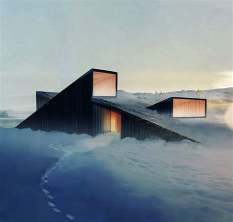 Ski Cabin Design by Mountain Cabin Roof Doubles As A Ski Slope Urbanist