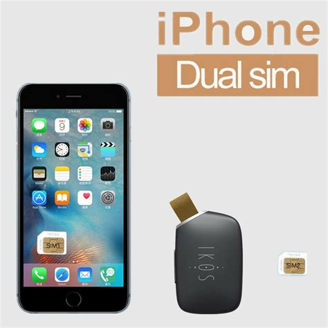 ikos one phone two sim cards adapter convert for iphone 5 5s 6 6s 7 dual standby ebay