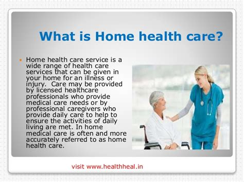 6 home care services and advantages