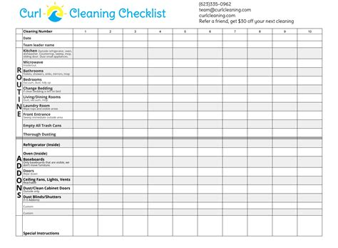 cleaning checklist house cleaning checklist curl house cleaning