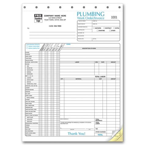order stylosj plumbing invoice forms free shipping