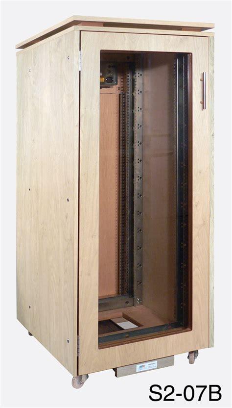 Front Door Cabinet Custom Consoles S2 07b Systemtwo Rack Cabinet 27u Glazed Front Door Rear Fan Winchester Oak