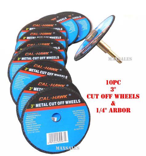 Cutting Wheels Black 16 X 3 X 1 Harga Bisa Dinegosiasi 10pc 3 quot x 1 16 quot cut wheels 3 8 quot arbor 1 4 quot shank arbor adapter ebay
