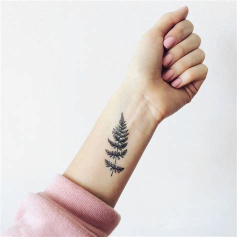 pattern wrist tattoos set of 2 fern temporary pattern temporary