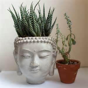 buddha planter 4 cement plant pot concrete by