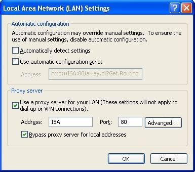 xp tutorial change port from 80 to 8080 configuring isa outbound web listener