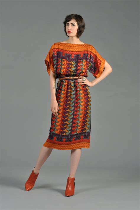 Ethnik Dress southwest inspired silk ethnic dress with kimono sleeves