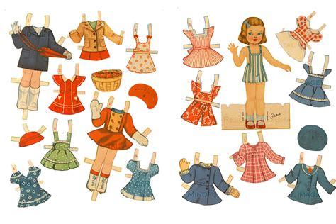 vintage 1940 s retro paper doll summer dresses ski