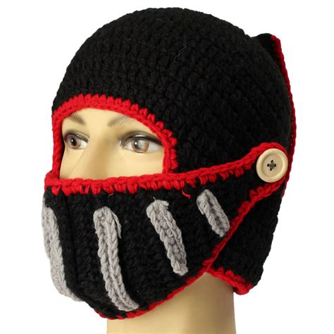 how to knit a mask unisex winter warm knitted crochet ski mask beard
