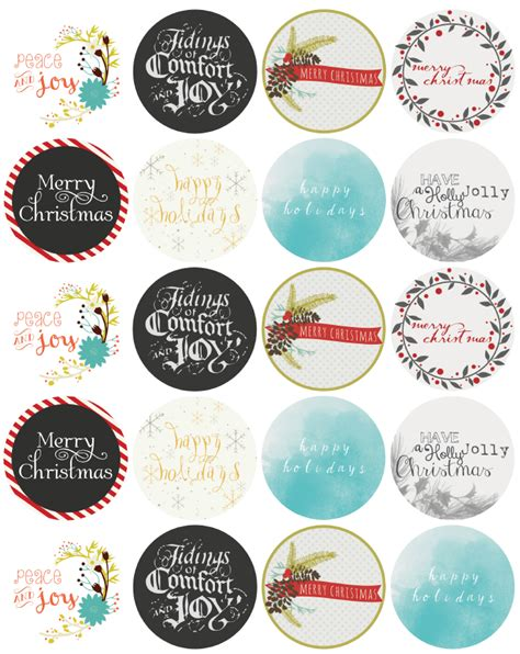 printable christmas round tags christmas label templates worldlabel blog