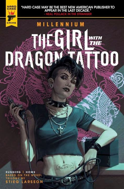 author of the girl with the dragon tattoo comic book review the with the