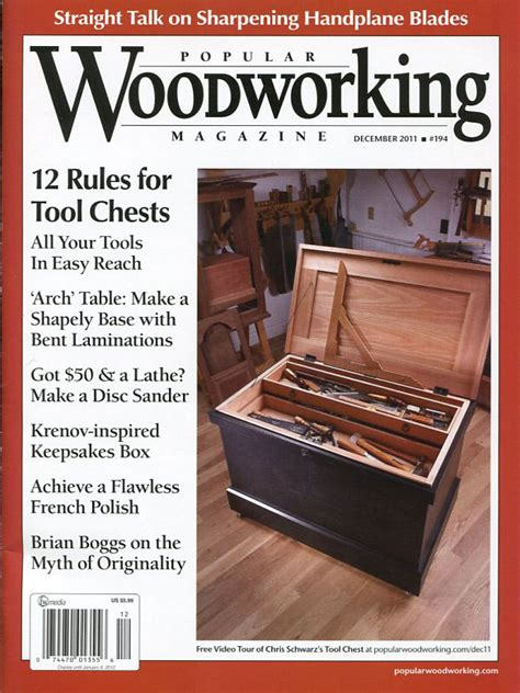 traditional woodworking magazine rethinking the traditional tool chest popular