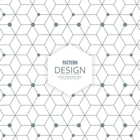 polygon pattern ai polygon background with hexagons lines and dots vector