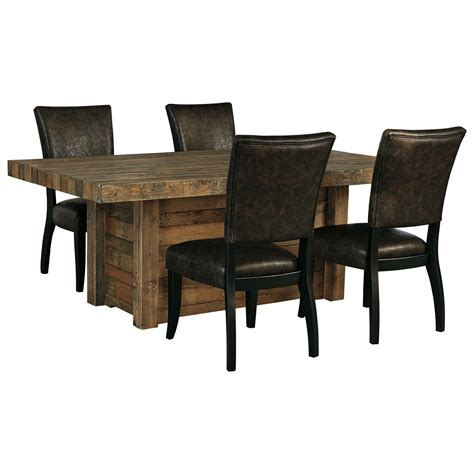 5 dining set table signature design by sommerford 5 rectangular