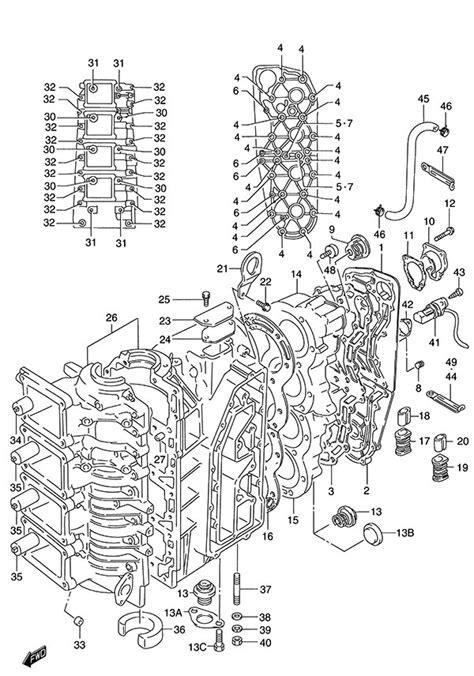 fig  crankcase suzuki dt  parts listings