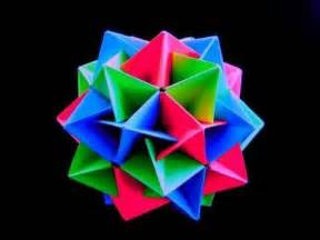 Origami Spiked Icosahedron - how to make an origami twinboat icosahedron