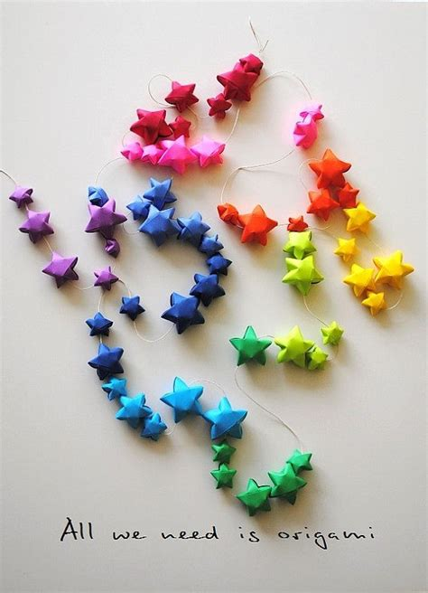 Origami Garland - 1000 ideas about origami garland on paper