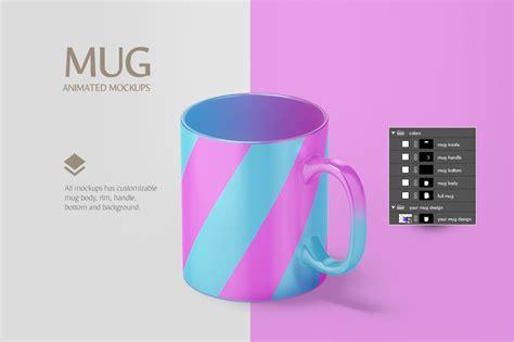 graphic design photoshop mug by listing store 77800541 mug animated mockup in stationery mockups on yellow images