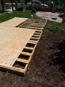 backyard wedding floor creating a floor from recycled pallets our