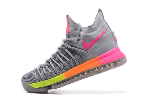 rainbow basketball shoes humanized nike zoom kd 9 elite kevin durant grey rainbow