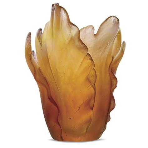 flowers of orchid decorative flower daum site officiel vase tulipe daum site officiel manufacture 100
