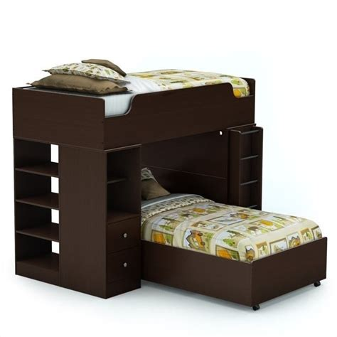 l shaped twin beds south shore logik twin over twin l shaped bunk bed in