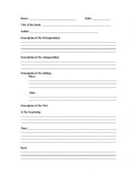 Basic Book Report Guidelines by Worksheets Book Report Format