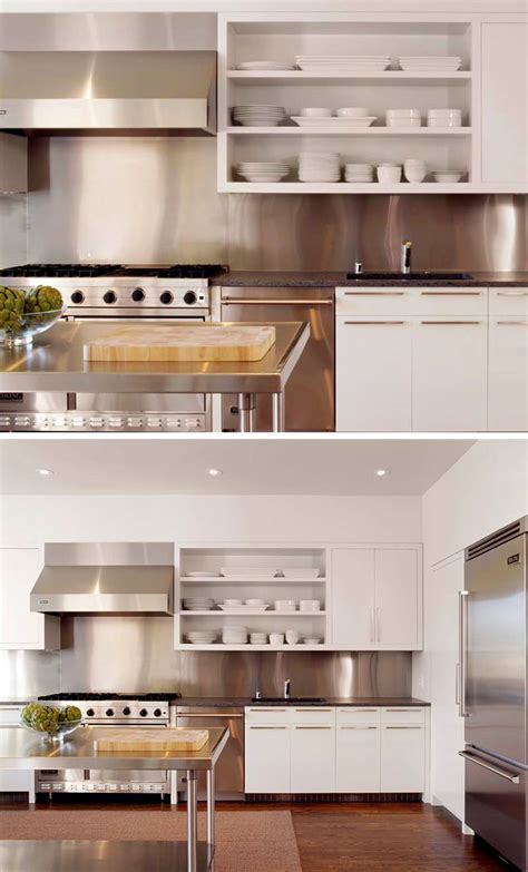 kitchens with stainless steel backsplash kitchen design idea install a stainless steel backsplash