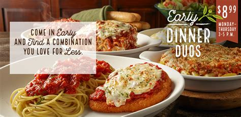 Olive Garden Day Specials Early Dinner Duos Specials Olive Garden Italian