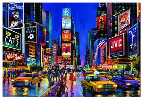 glow in the paint nyc educa jigsaw puzzles times square new york neon jigsaw