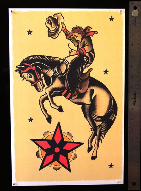old bucking horse with cowboy tattoos pinterest