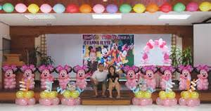 minnie mouse theme birthday party decoration at sacred heart center cebu balloons and party