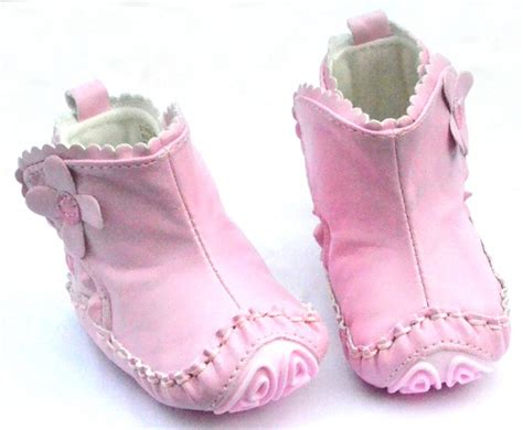 pink infant toddler baby shoes boots size 1