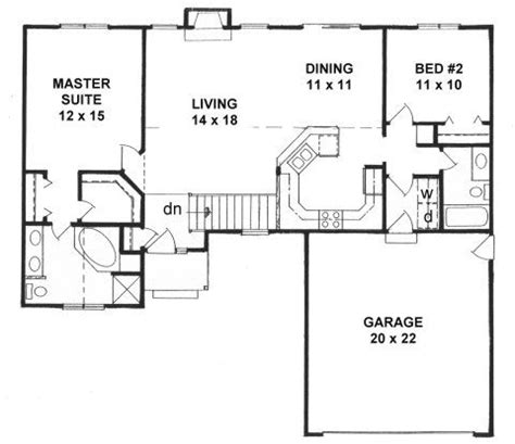 2 bedroom ranch house plans plan 1218 2 split bedroom ranch house plans pinterest