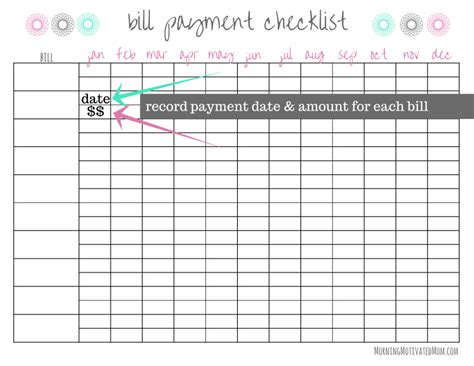 how to organize your bills morning motivated mom