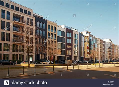modern apartment buildings berlin germany stock photo