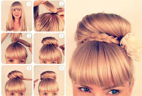 easy hairstyles for school beginners تسريحات شعر سهله و رائعه مع الشرح بالصوره منتديات سيدتي النسائي