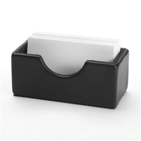 business card holder for desk desk business card holder grain leather black onyx