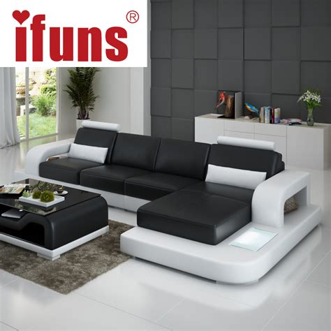 living room design with leather sofa aliexpress com buy ifuns unique leather sofa living room