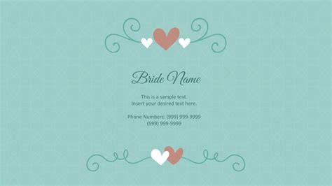 template wedding wedding powerpoint template slidemodel