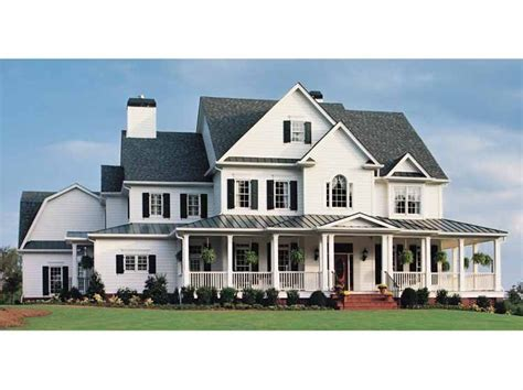 prestige country farmhouse home plan homepw10740 5466 square foot 5 bedroom 5