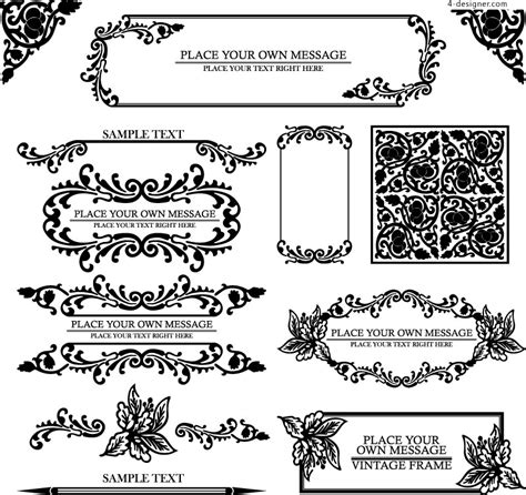 simple pattern border design 16 vector european border pattern images free vector
