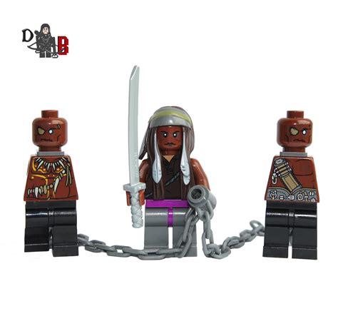 Lego Mini Figure Walking Dead 3 michonne demonhunter bricks