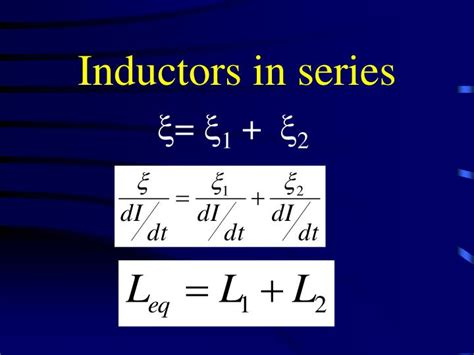 how to add inductance in parallel ppt inductance powerpoint presentation id 5762745