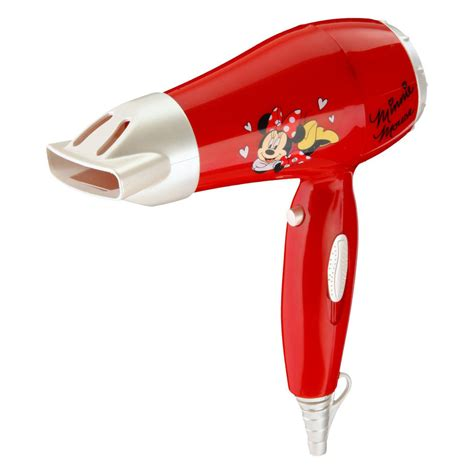 disney minnie mouse travel hair dryer set