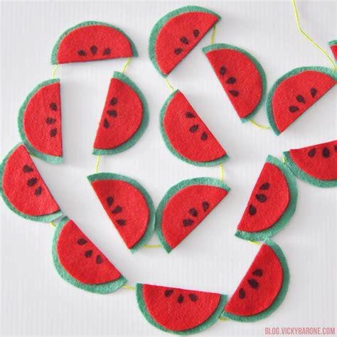 felt watermelon pattern no sew felt watermelon garland craftbnb