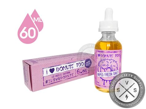 Donut S Strawberry 3mg 60 Ml 1 i donuts by mad hatter juice 60ml