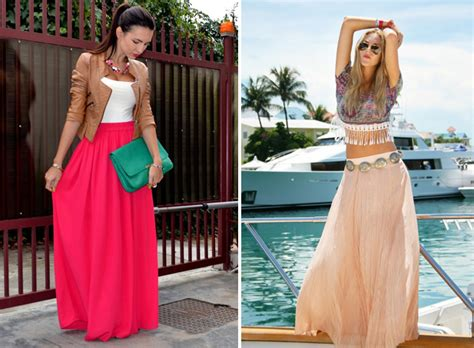 how to wear maxi skirts fashionisers